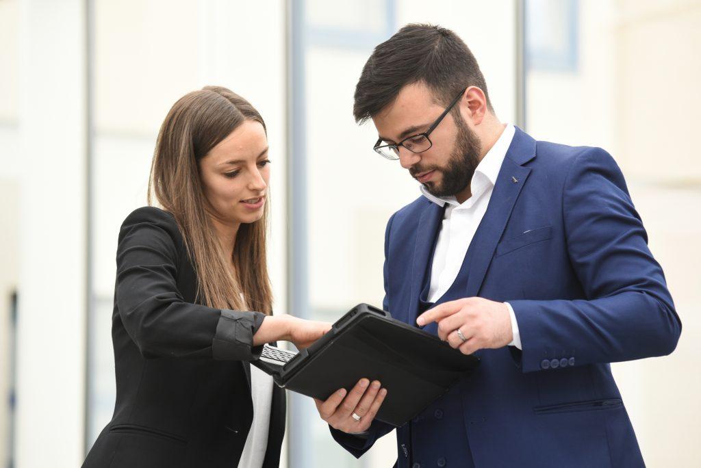 Kundengespräch im Rahmen eines Audits