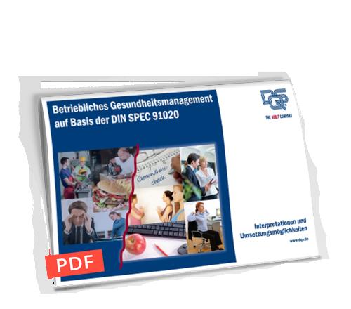 Betriebliches Gesundheitsmanagement auf Basis der DIN SPEC 91020